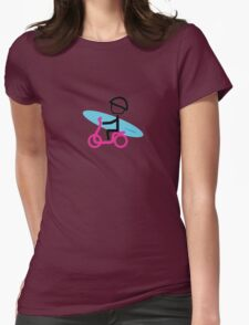 Scootery Boy series - scooter surferl t-shirt Womens Fitted T-Shirt