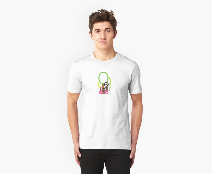 Scootery Boy series - scootin' through forrestl t-shirt  by go sugimoto