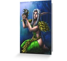 Night Elf Druid Greeting Card