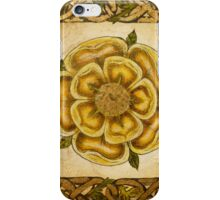 Yellow Celtic Rose iPhone Case/Skin