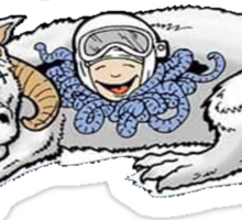 """Happiness is a warm Tauntaun"" Sticker"