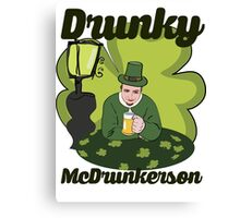 Drunky McDrunkerson Canvas Print