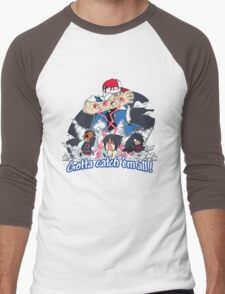 """ Danzo Master trainer "" ( Pokémon / Naruto ) Men's Baseball ¾ T-Shirt"