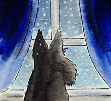Scottie Dog 'Snowing' by archyscottie