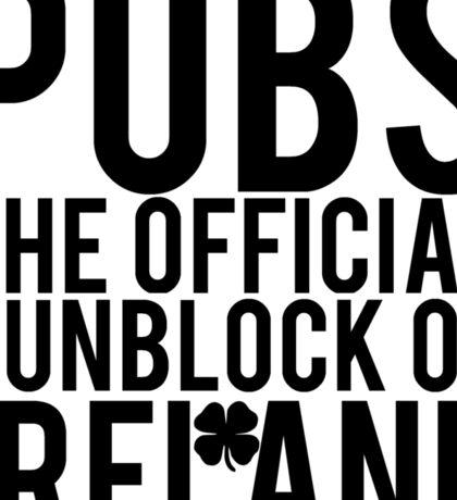 Pubs Irelands Sunblock Sticker
