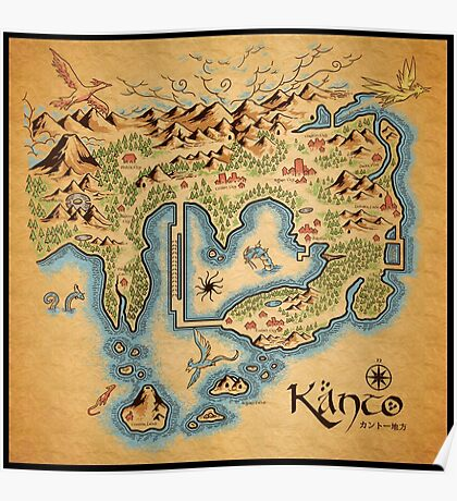Kanto Map Poster
