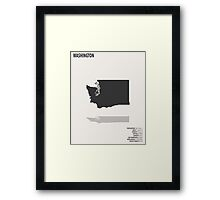 Washington Map Framed Print