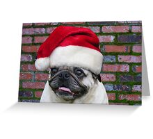 SANTA PUG Greeting Card