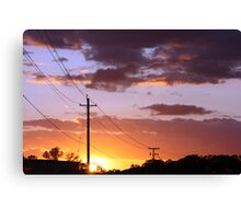 Powerlines & Sunsets Canvas Print