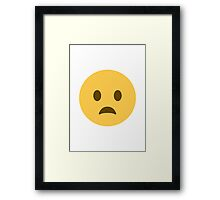 Frowning Face With Open Mouth Twitter Emoji Framed Print