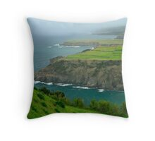 Coastal landscape, Azores Throw Pillow