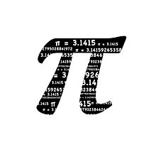 Pi Day Graphic Symbol Photographic Print