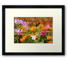 Every little garden seems to whisper a tune Framed Print