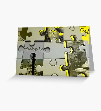 Puzzle Me Greeting Card