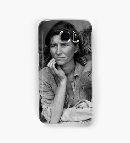Migrant Mother, taken by Dorothea Lange in 1936 Samsung Galaxy Case/Skin