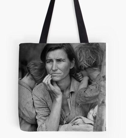 Migrant Mother, taken by Dorothea Lange in 1936 Tote Bag
