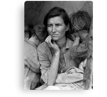 Migrant Mother, taken by Dorothea Lange in 1936 Canvas Print