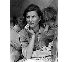 Migrant Mother, taken by Dorothea Lange in 1936 Photographic Print