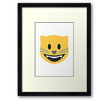 Smiling Cat Face With Open Mouth Twitter Emoji Framed Print