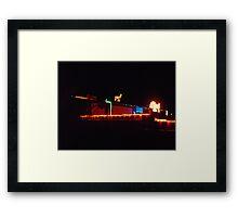 Bright Lights of Bluff Framed Print