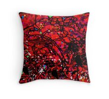 Imperial Red  Throw Pillow