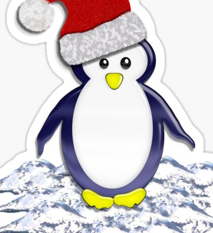 Christmas Pinguin Tee Sticker