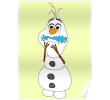 Olaf eating cake Poster