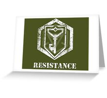 RESISTANCE - Ingress Greeting Card