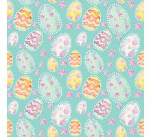 Pastel Watercolour Painted Easter Egg Pattern Photographic Print