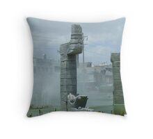 Mayan Fountain Throw Pillow