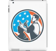 Barber Scissors Comb Cutting USA Flag Retro iPad Case/Skin