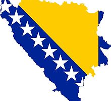 Flag Map of Bosnia & Herzegovina  by abbeyz71