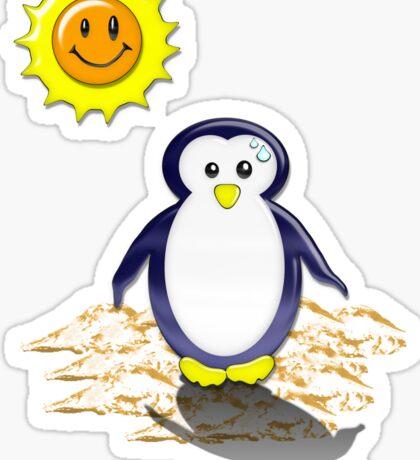 Sunny Pinguin Shadow Tee Sticker