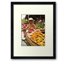 Fruit Boat at Floating Market Framed Print