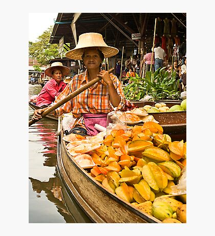 Fruit Boat at Floating Market Photographic Print
