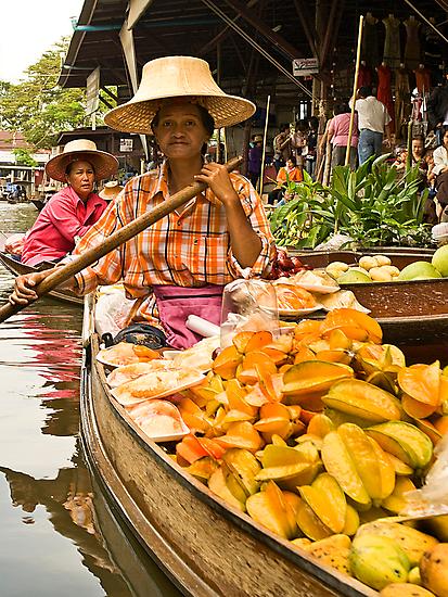 Fruit Boat at Floating Market by Dan Sweeney