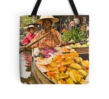 Fruit Boat at Floating Market Tote Bag