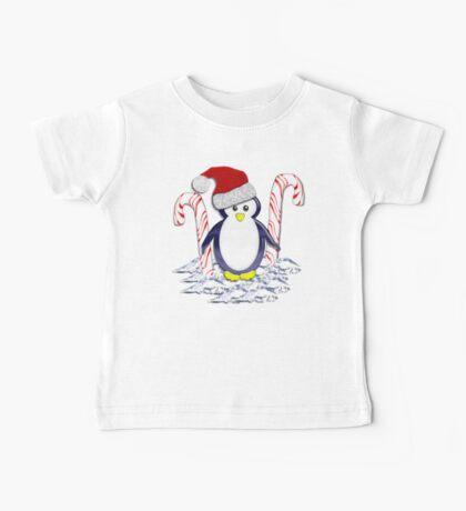 Christmas Candycane Pinguin Tee 2 Baby Tee