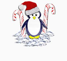Christmas Candycane Pinguin Tee 2 Womens Fitted T-Shirt