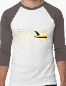 Blue Single Fin Men's Baseball ¾ T-Shirt