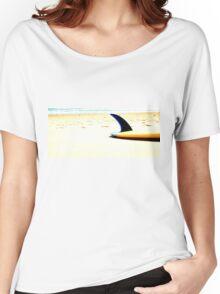 Blue Single Fin Women's Relaxed Fit T-Shirt