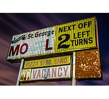 Vincent St. George Motel Photographic Print