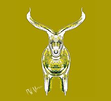 Bull, yellow and chartreuse  by Penny Ward Marcus