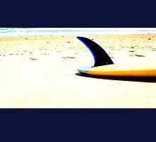 Blue Single Fin by Mark Piovesan