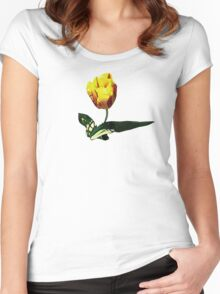 Yellow and Red Tulip Women's Fitted Scoop T-Shirt