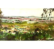 View from Wombat Hill, Daylesford, Vic. Australia Photographic Print