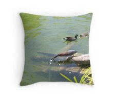 Fishing Birds decided to use the bate technique Throw Pillow