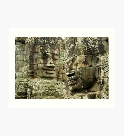 Heads of Stone Art Print