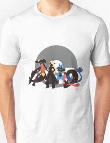 Cynthia With Pokemon - Sunset Shores T-Shirt