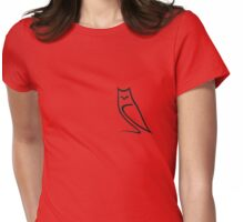 Vector Style Owl Womens Fitted T-Shirt